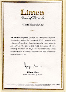 Smallest Size desk calender - 2012 in limca Book of Records 2012