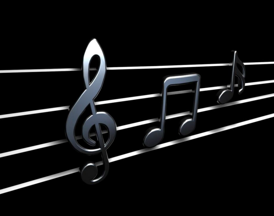 3D Music Black And White Wallpaper
