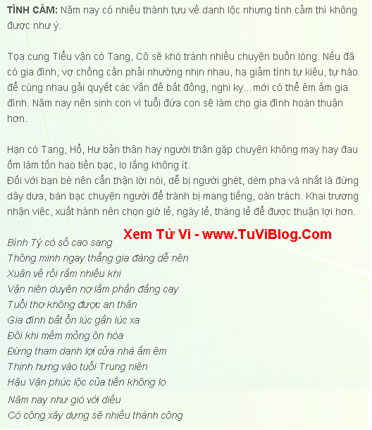 Tuoi Binh Ty 1996 Nam 2016