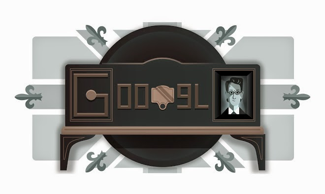 90th Anniversary of the first Mechanical Television demonstration Google Doodle