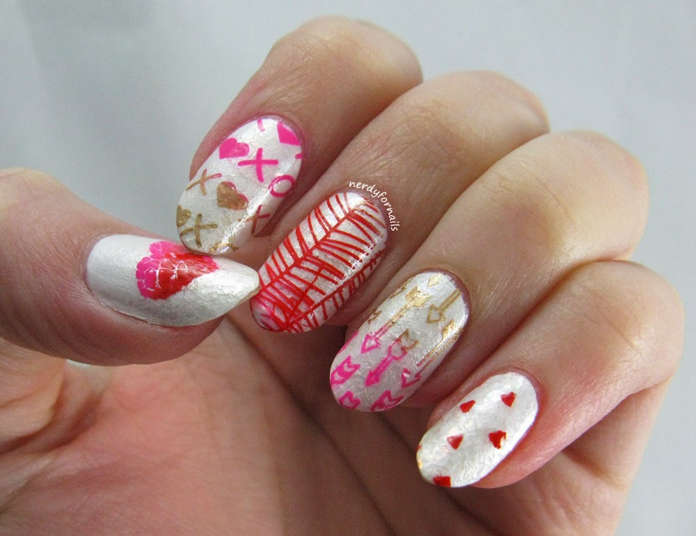 Valentine's Day Stamped Nails- Bundle Monster, Mundo de Unas