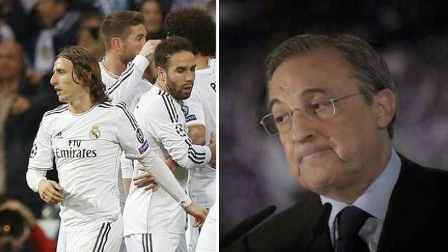 رئيس ريال مدريد غاضب على لاعبيه