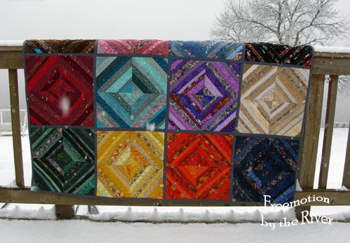 QAYG string quilt at Freemotion by the River