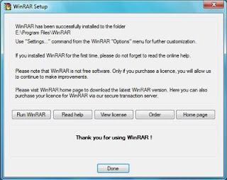 Complete Installation of Winrar