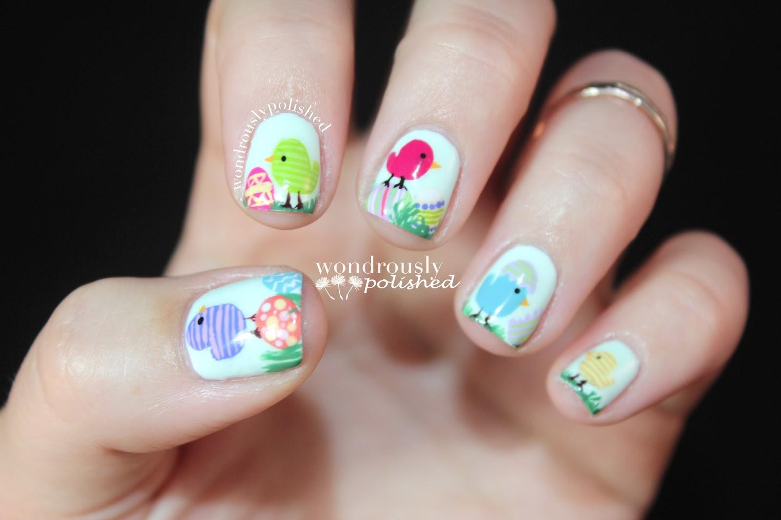 Wondrously Polished: Spring/Easter Nail Art!