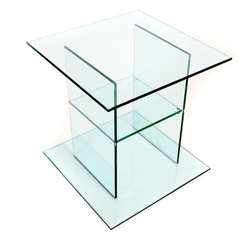 Glass Bedside Table : glass bedside table