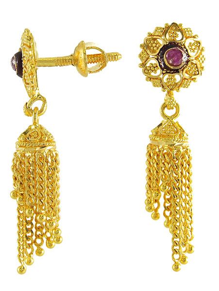 Cool FASHION Of Life Style Indian Gold Earrings