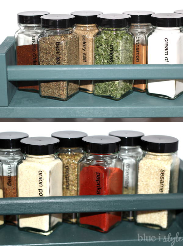 Spice Racks on Pantry Wall