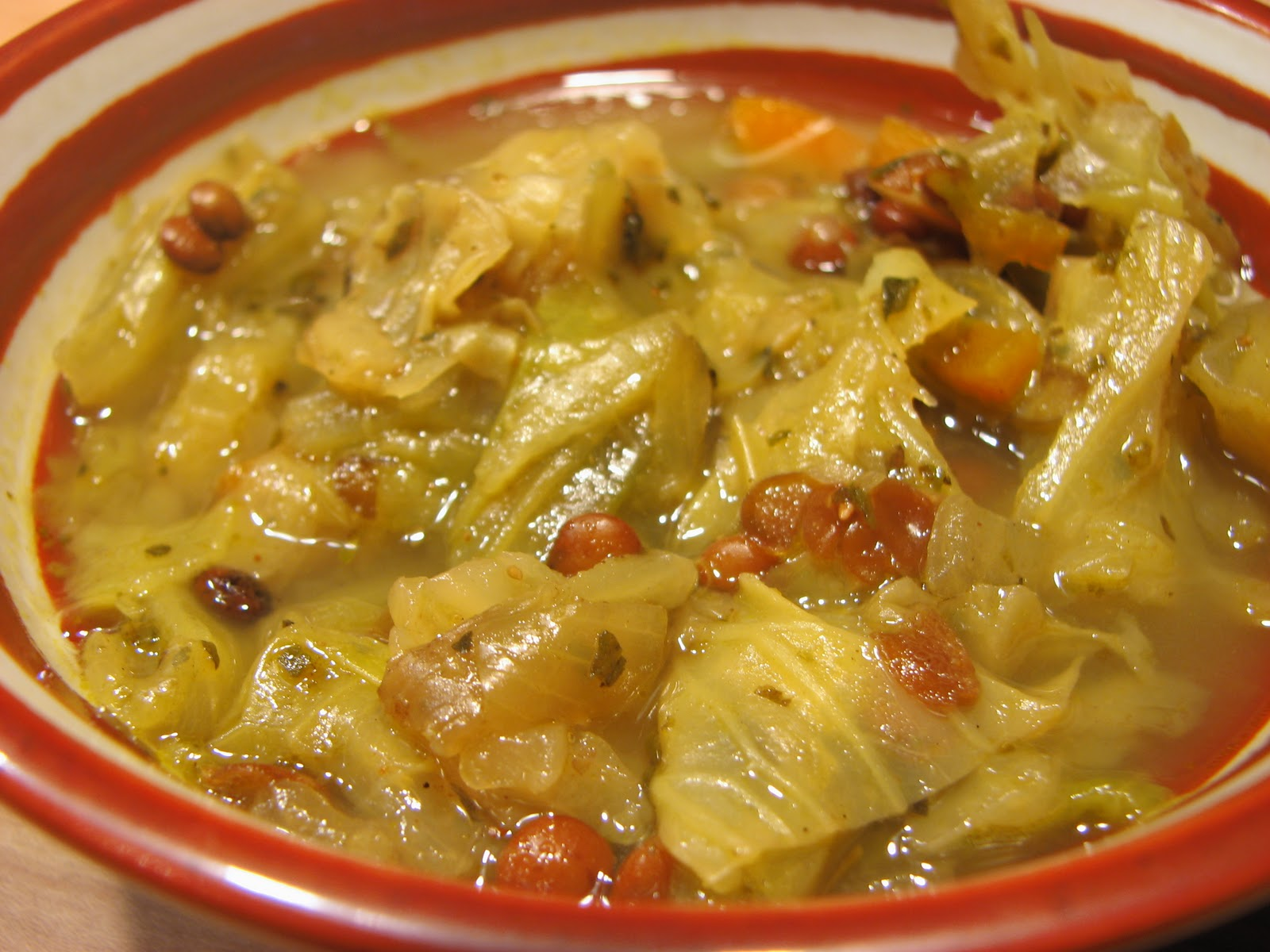 THE VOLUPTUOUS VEGETARIAN: Garbage Soup -- or should we say, cabbage ...