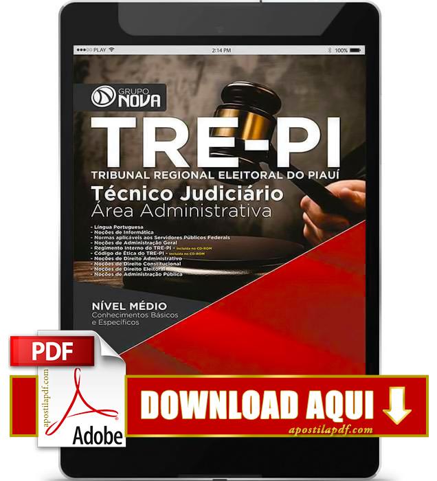 Apostila TRE PI 2015 PDF Download Técnico Judiciário