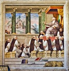 San Jerónimo explicando a los monjes
