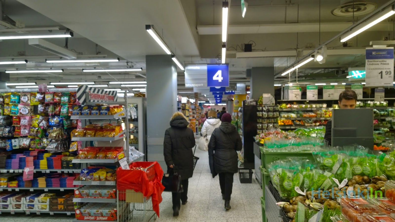prices in Finnish supermarkets are going down
