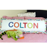 Appliqued Body Pillow Cover
