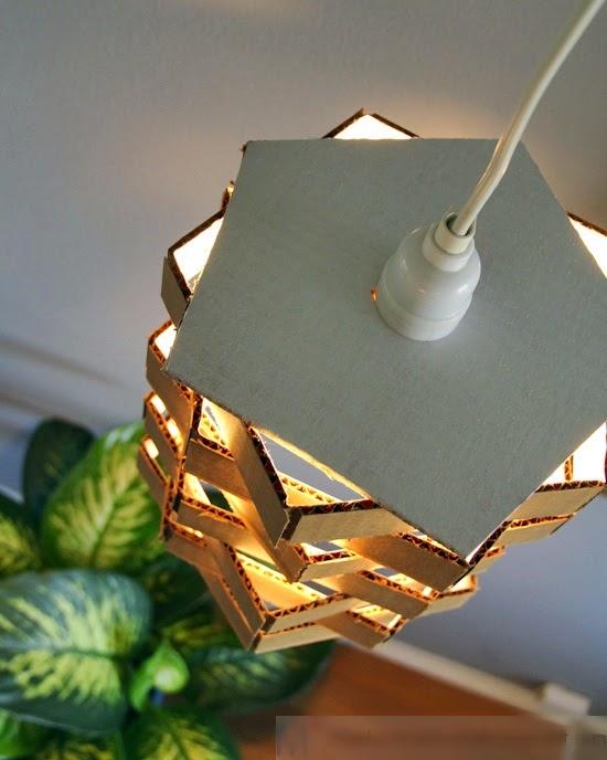 Kerajinan Tangan Membuat Lampu Dari Kardus