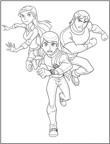 Ben 10 Alien Force Coloring Pages | Color Udin
