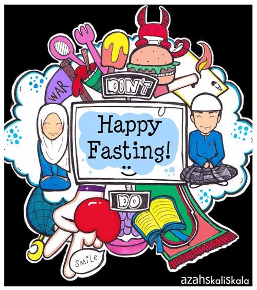 Berbuka puasa jangan sampai over kenyang, lauk sahur, juadah makanan menu berbuka puasa, bersungkai perut kenyang makan sampai senak