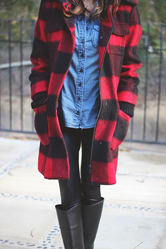 Frankie hearts fashion buffalo plaid for Buffalo check flannel shirt jacket