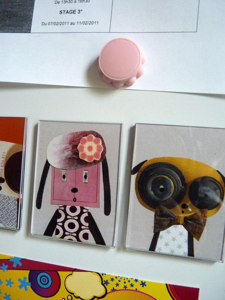 karine bailly cr ations sur mon frigo cote cote. Black Bedroom Furniture Sets. Home Design Ideas