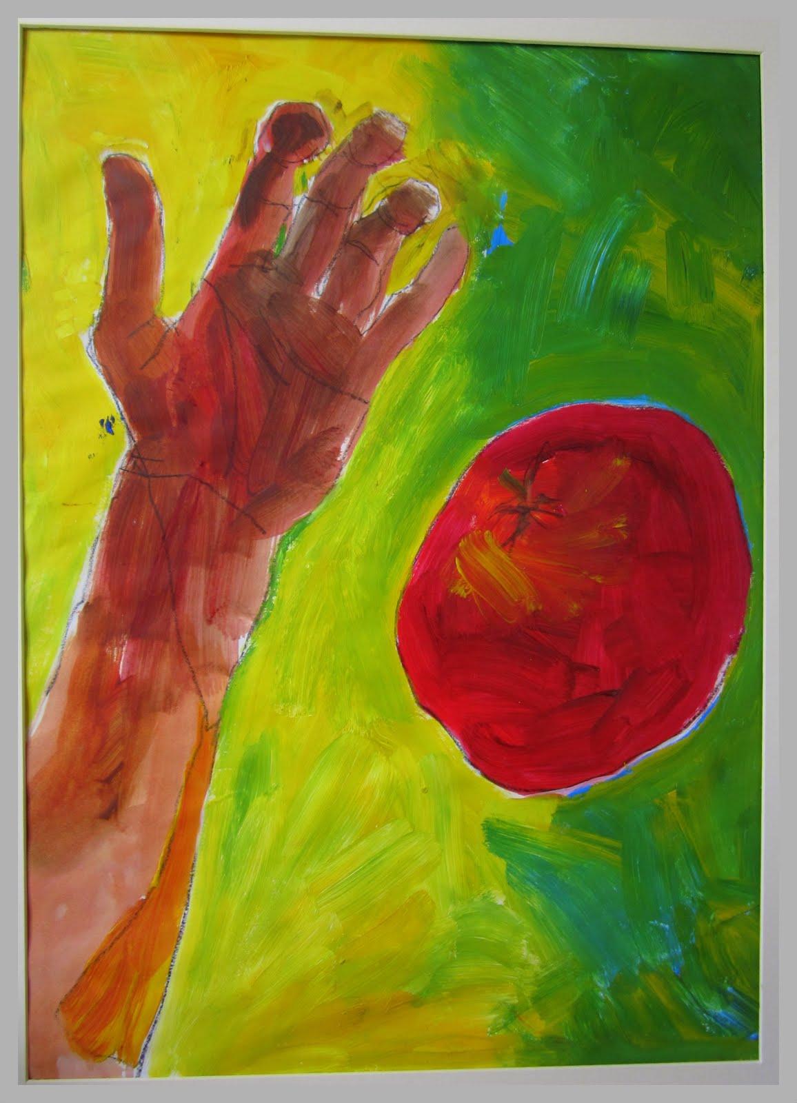 Hand and Tomato