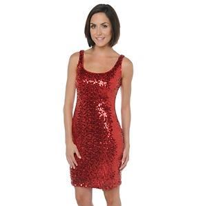 modelo de vestido de paetê vermelho - dicas e fotos