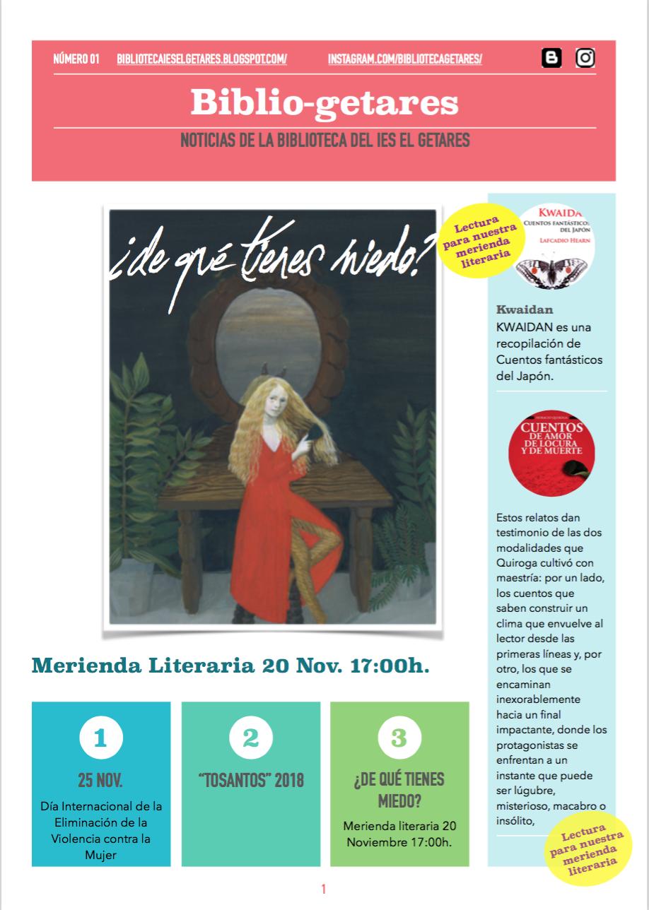 """Nuestra revista: """"Bibliogetares"""""""