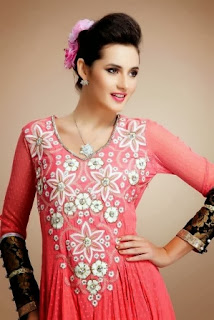 Thread Embroidered Anarkali Suits