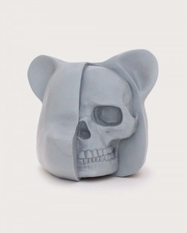 "New York Comic Con 2014 Exclusive ""Kenner Prototype Blue"" Dissected Bear Head Resin Figure by Luke Chueh"