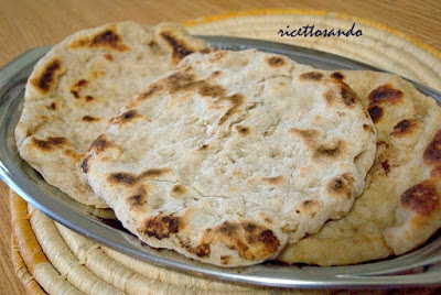 Naan pane integrale indiano