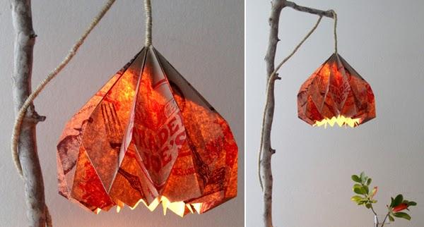 Luminaria-com-cúpula-de-origami