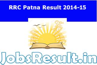 RRC Patna Result 2014-15