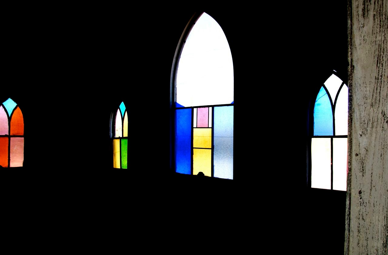 Jermyn Methodist Church windows