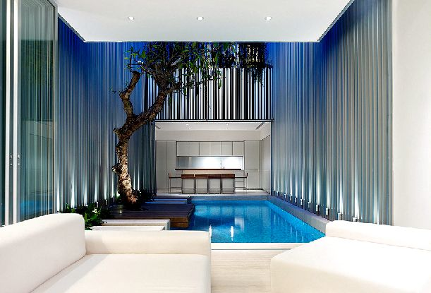 Tropical private pool tropical houses small private pool 3 for 10x20 living room