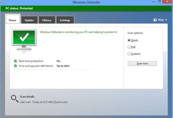 Hướng dẫn bật/tắt phần mềm Windows Defender trên Windows 8/8.1 chi tiết bằng hình ảnh