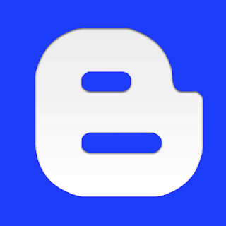 Blue Blogger Icon