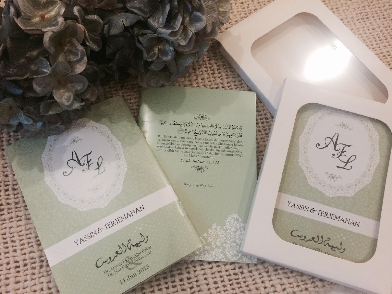 Fatin liyana idea doorgift kahwin for Idea door gift cukur jambul