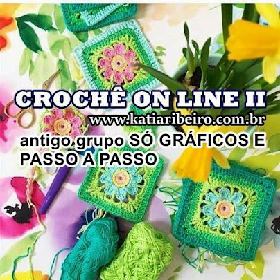 PARTICIPEM DO MEU GRUPO DE CROCHÊ
