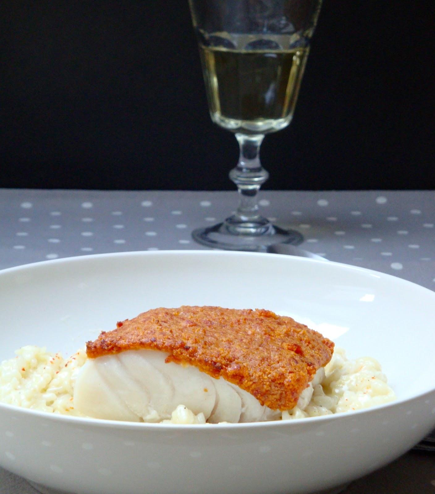 Les cahiers gourmands dos de cabillaud en cro te de chorizo - Comment cuisiner du cabillaud ...