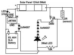 solar emergency light circuit diagram