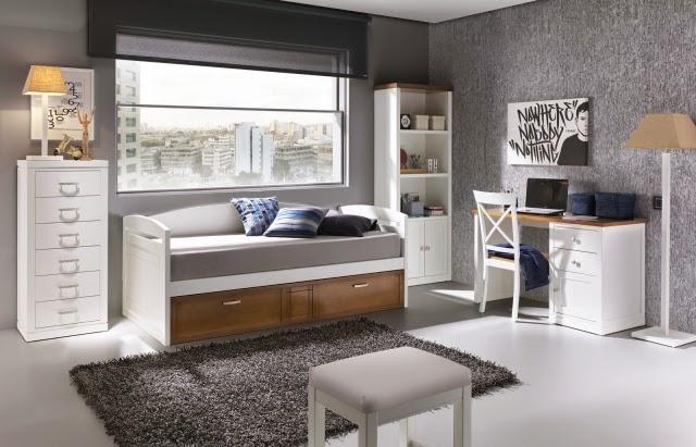 Dormitorios juveniles en gris y blanco colores en casa for Cuarto color gris