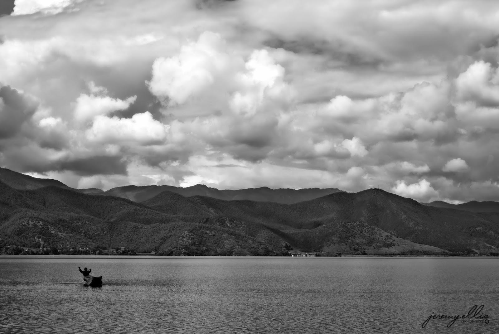 boating on Lugu Lake