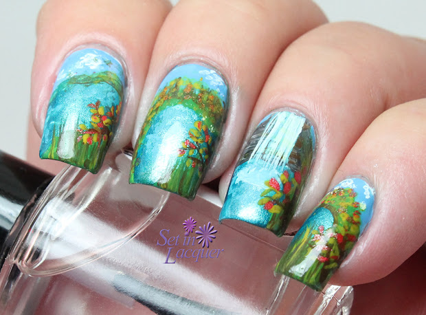 landscape nail art fall