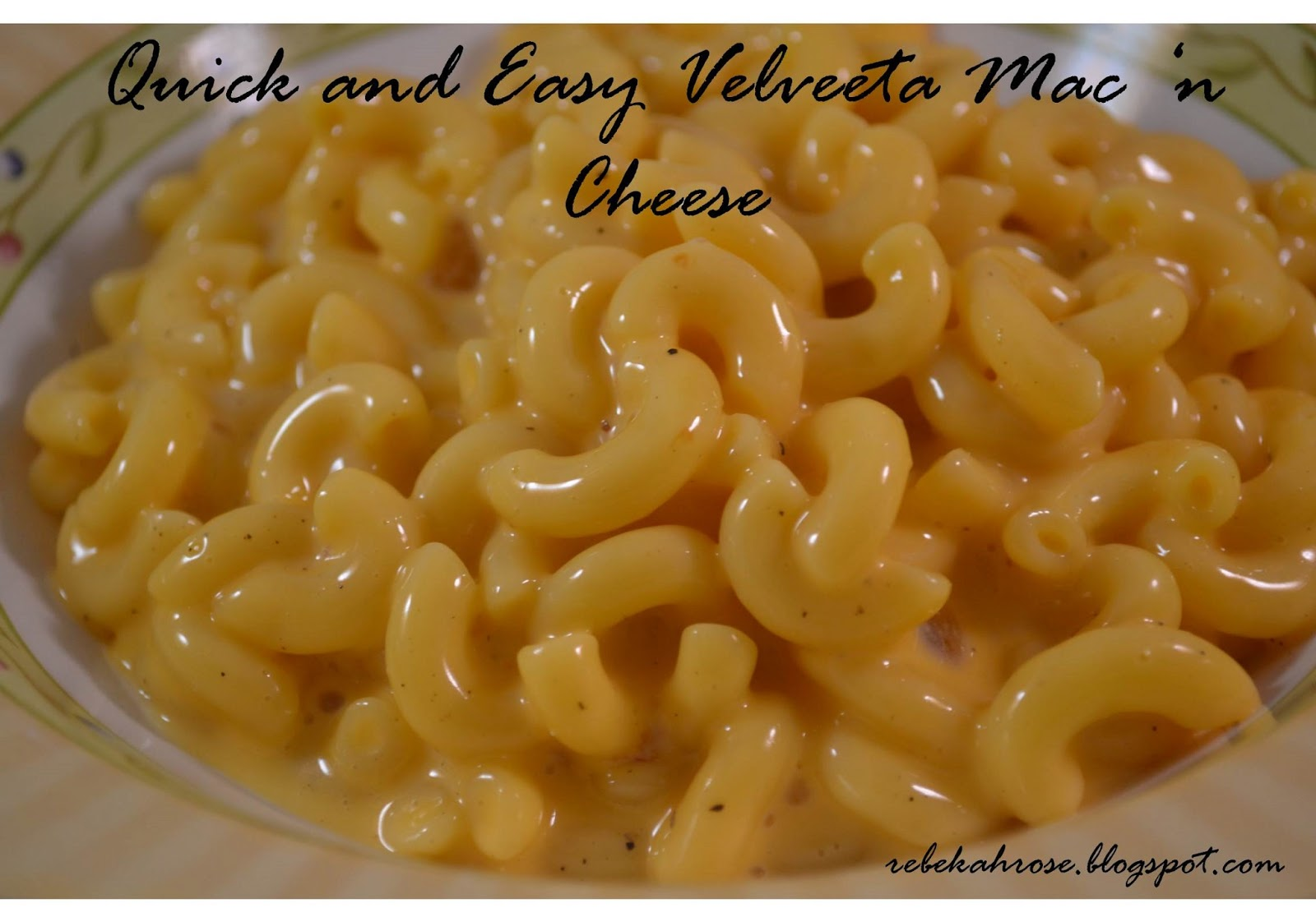 Quick and Easy Velveeta Macaroni and Cheese slightly adapted from ...