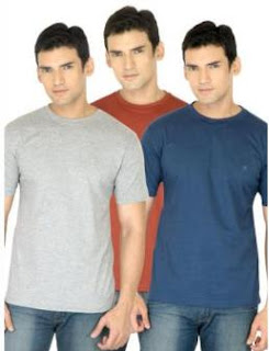 Campbell Men Pack of 3 T-shirts just for Rs.433 including Shipping (Rs.144 each)