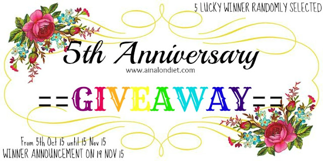 Ainal On Diet 5th Anniversary Giveaway