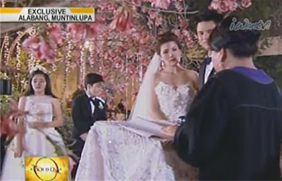 Carmina-Zoren wedding officiated by a judge (their kids, Cassie and Mavy on the background)
