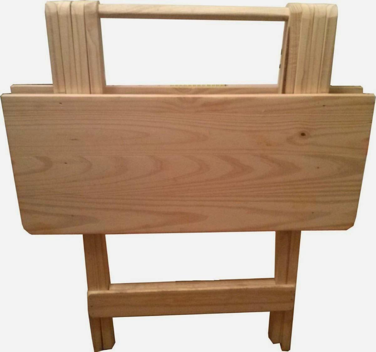 Carpinteria artesanal el madero mesa con sillas plegables for Precio de sillas plegables