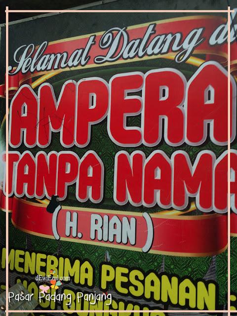 Ampera tanpa nama di padang Panjang