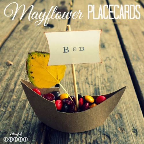 DIY Mayflower Place Cards from Blissful Roots