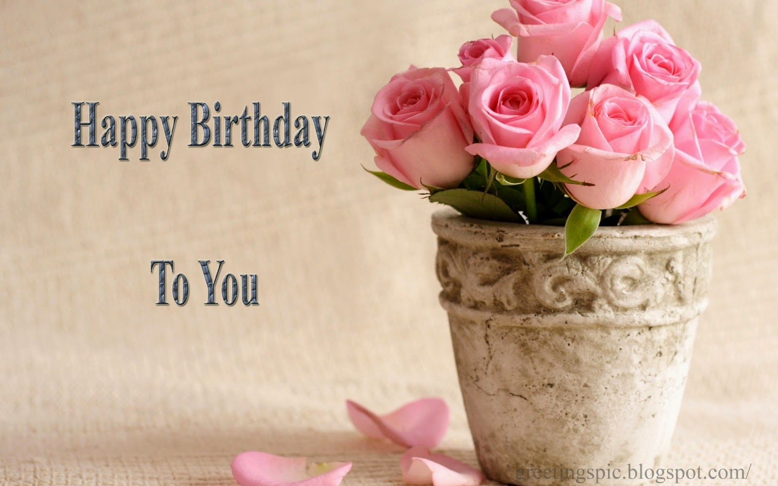 Happy birthday cake and flowers images greetings wishes images happy birthday rose flowers images izmirmasajfo