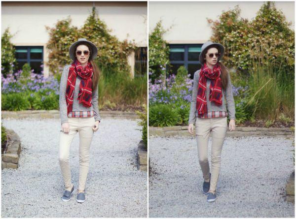 Autumn tartan outfit